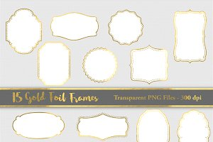 Gold Foil Frame - Sale for only $4