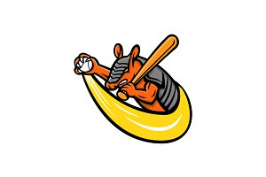 Armadillo Baseball Mascot