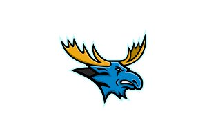 Bull Moose Head Mascot
