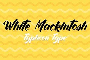 White Mackintosh font