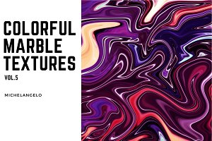11 Colorful Marble Textures vol.5