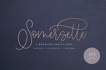 Somersette Script Font (INTRO SALE)