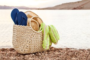Beach Bag With Flip Flops