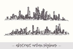 Abstract urban cities skylines
