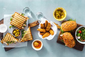 snacks Grilled sandwich nuggets