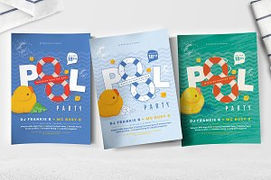 Pool Party Flyer / Poster Templates