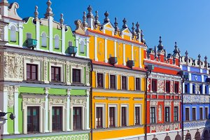 Architecture of Zamosc, Poland