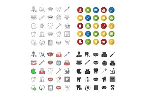 Dentistry icons set