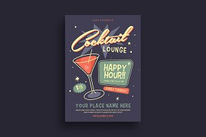 Retro Cocktail Event Flyer
