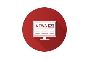 Electronic newspaper icon