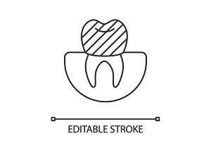 Dental crown linear icon