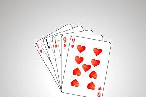 Full house poker combination