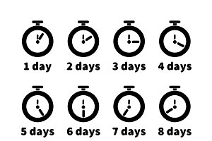 Timers with different days values