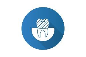 Dental crown icon