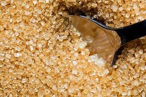 Brown, unrefined sugar