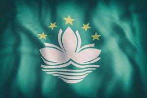 Macau flag waving