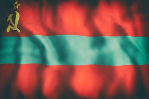 Transnistria flag waving