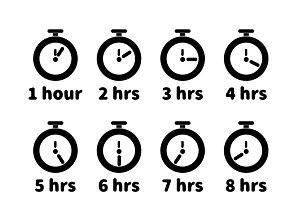 Timer with different hours values