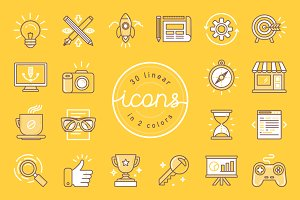 30 linear icons