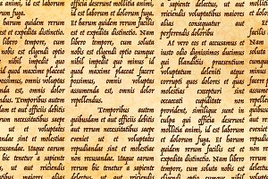 Abstract latin manuscript on paper
