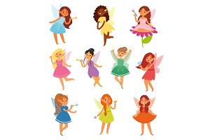 Fairy girl vector magic faery