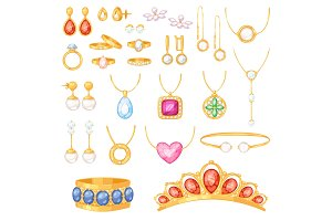 Jewelry vector jewellery gold