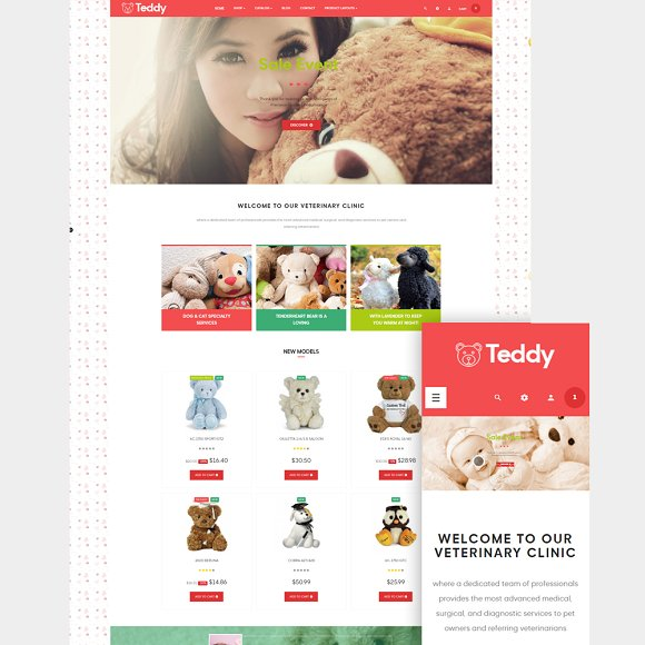 LEO TEDDY – KID TOY AND PET