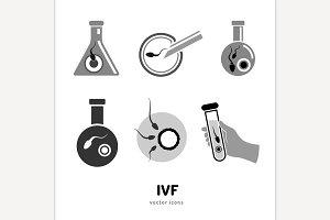 In vitro fertilisation icons