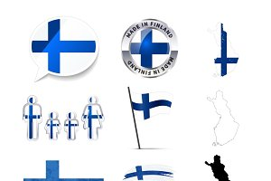Set of Finland infographics elements