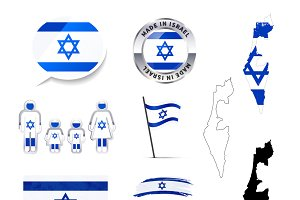 Set of Israel infographics elements