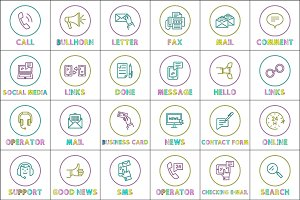Message sms phone calls icons vector