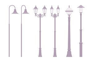 Silver retro street lamp