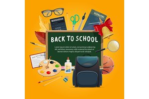 Back to school poster for education