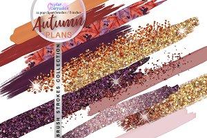 Autumn Plans Paint Brush Clipart