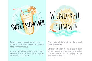 Sweet Wonderful Summer Posters with