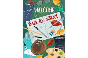 Back to School lettering with