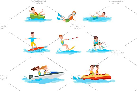 Summer Activity Collection Vector