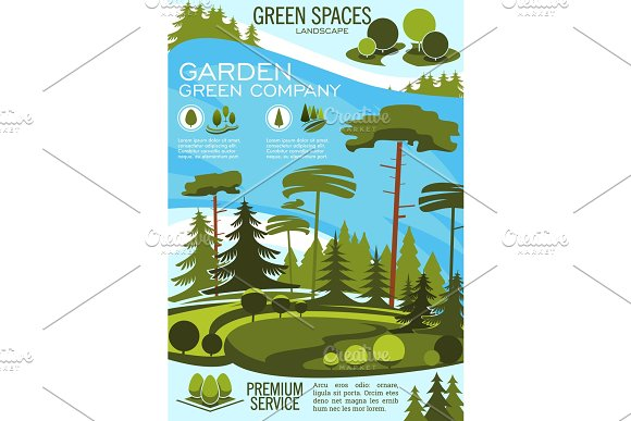 Landscape architecture banner with
