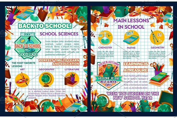 School sciences vector education