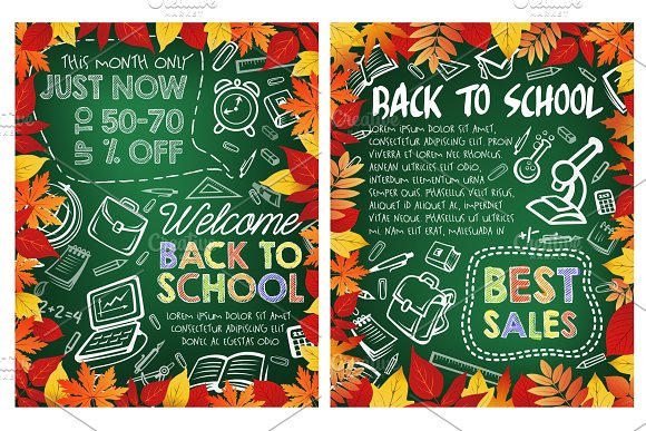 Back to School vector discount sale
