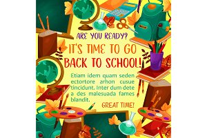 Back to school poster with study