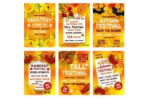 Autumn harvest festival poster