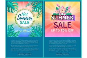 Hot Summer Sale Poster Up to 70% Off