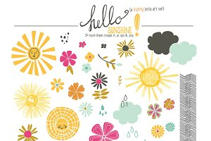 Hello Sunshine Clip Art