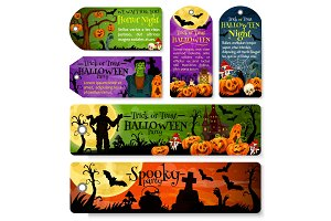 Halloween tag or october holiday