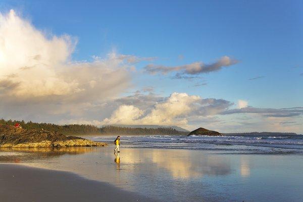 Walk on a beach.
