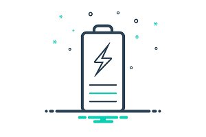Chargeble battery icon