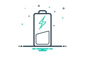 Low chargeable battery icon