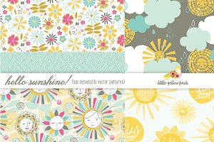 Hello Sunshine Seamless Patterns