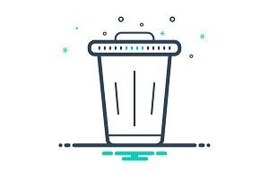Dust bin icon